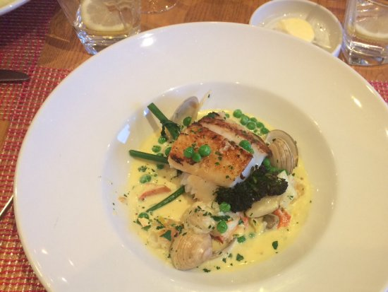 Blairgowrie, UK: Smoked halibut fricassee