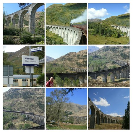 Glenfinnan, UK: Famous Harry Potter Bridge.😀