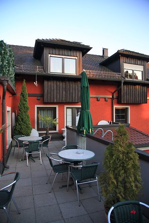 Hotel Garni Bulligan : Terrasse