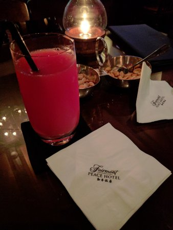Jazz Club at the Peace Hotel: My watermelon juice!