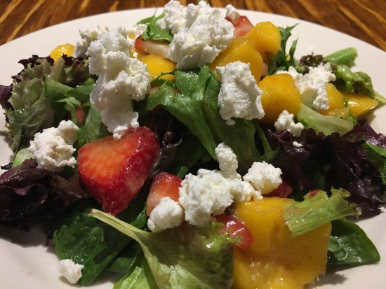 Rutherford, NJ : Strawberry, mango cranberry goat cheese mixed greens and Spanish grilled octopus!