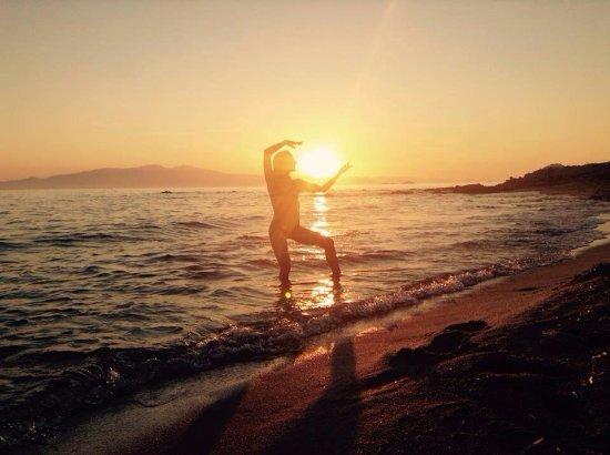 Kastraki, Greece: Sunset in our beach