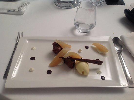Верхняя Гаронна, Франция: Dessert poire chocolat