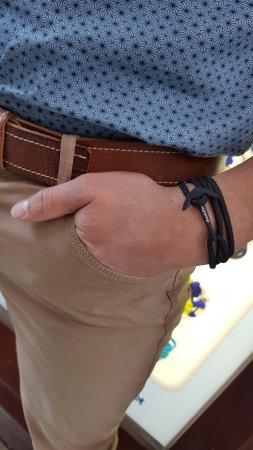 Break Time Nautical Bracelets All Black Bracelet For Men Anchor