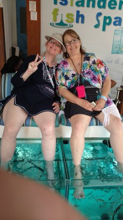 Me and my sister brenda picture of islander fish spa for Fish pedicure locations near me