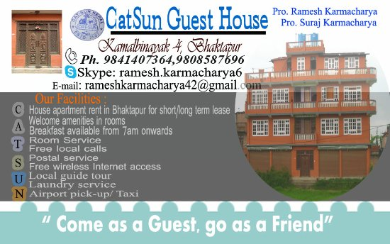 Visiting Card Of Catsun Guest House