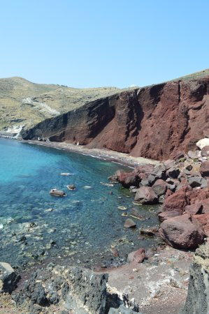 Red Beach: View from trail leading to the beach, just before a steep decline