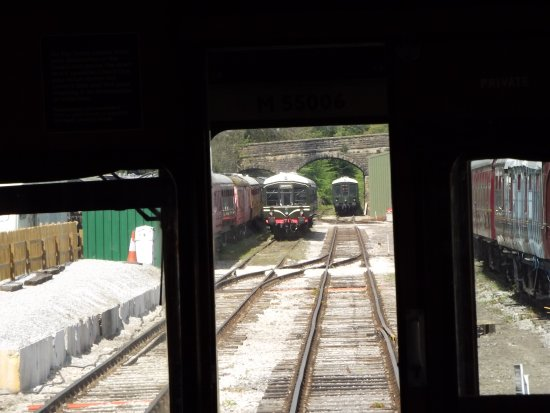 Wirksworth, UK: Looking back to the Rail Yard