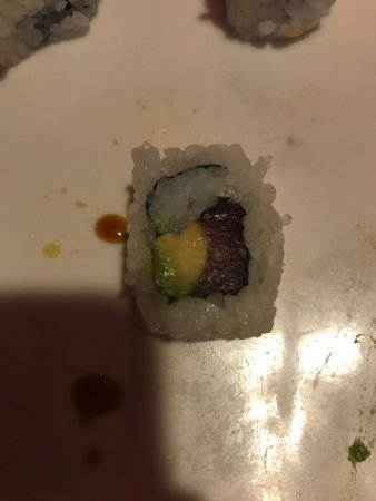 Hendersonville, TN: They skimp on the filling of the sushi, so you are left with an excessive amount of rice.