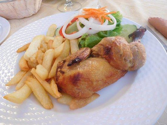 los Tarajales : De gebakken kip. Lekker en mooie portie