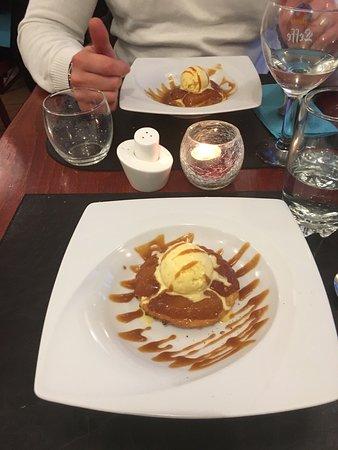 Le Barbican: Tarte tatin de pommes, boule de glace vanille, caramel au beurre salé : à tomber !