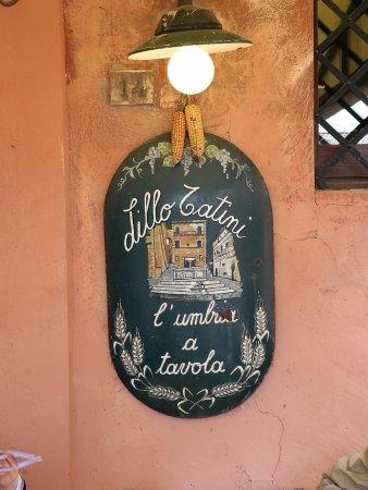 Panicale, Italia: Insegna del locale