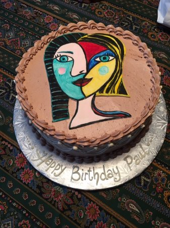 North Wales, PA: Made to order cake. They were told I love contemporary art.