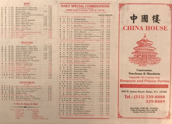 Best Chinese food in Rome! They have a good sit down area, delivery and takeout.