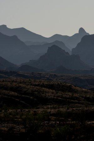 Alpine, TX: Desert mountains in early morning