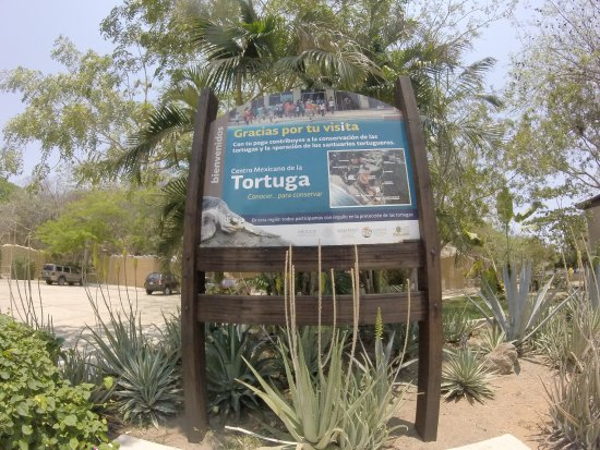 Mazunte, Mexico: entry sign