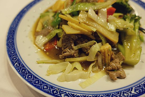 China Palace: Beef Chop Suey.