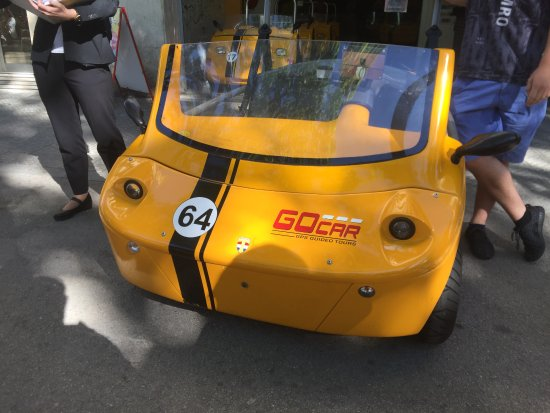 GoCar GPS Guided Tours : Front of the Trike.