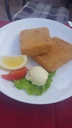 Bohinjska Bela, Slovenien: Formaggio impanato