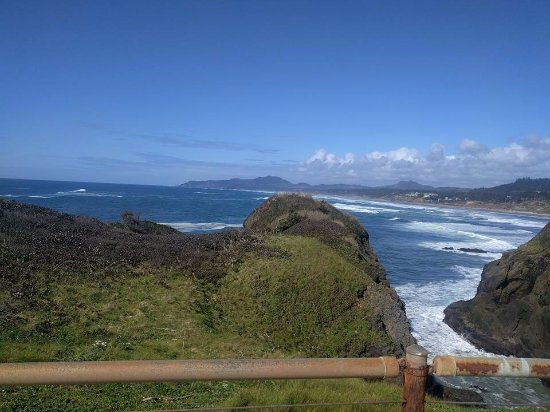 Yaquina Bay Lighthouse: Vista desde el faro.