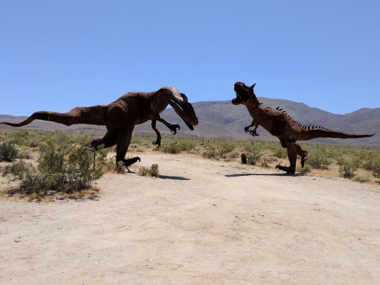 fighting dinosaurs picture of galleta meadows borrego springs
