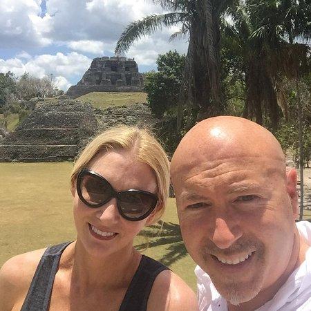 At the Mayan ruins of Xunantunich, near Ka'ana Resort.