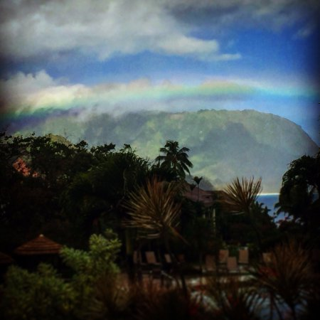 Hanalei Bay Resort: Vista desde el lobby