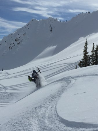 Wheelie your way into the weekend with a backcountry snowmobile tour in Golden BC!