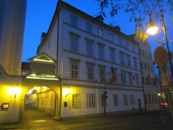 Augustine, a Luxury Collection Hotel, Prague : View of main entrance from street - easy to miss