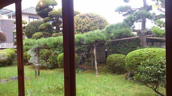 Yamatotakada, Japan: maruike cafe 小さな和風庭園