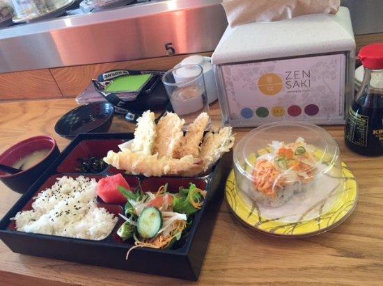 tempura bento box jungle crab sushi picture of zensaki sushi and izakaya perth tripadvisor. Black Bedroom Furniture Sets. Home Design Ideas
