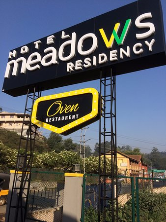 Meadows Residency - Ooty: Hotel hoarding at the entrance