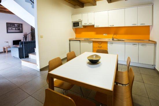 Anserall, España: Cocina Apartamento