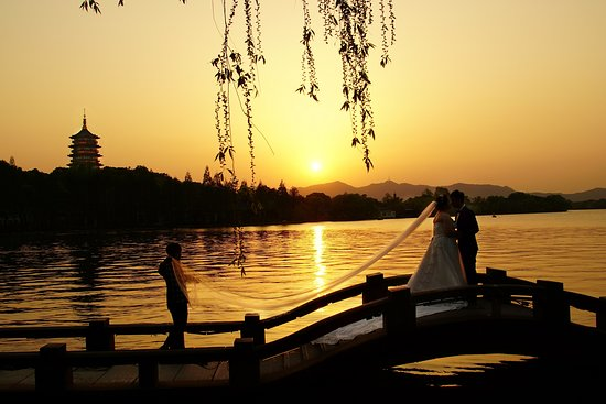 Hangzhou, China: Westlake Romantic Sunset