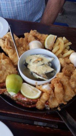 Struisbaai, South Africa: Seafood platter