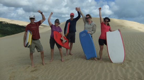 Hiking New Zealand: Made it the top of that very big sand dune