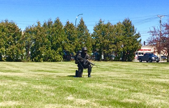 Sculpture Walk: Bronze Soldier in Cemetary. A must see. (May 7th 2017)