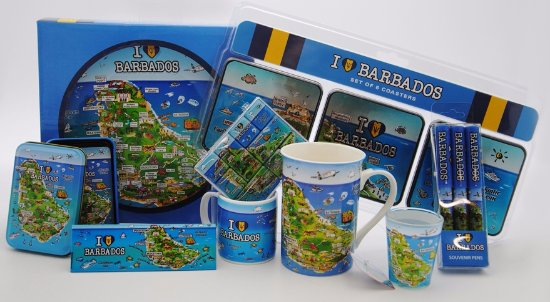 Holetown, Barbados: Featuring the map of Barbados