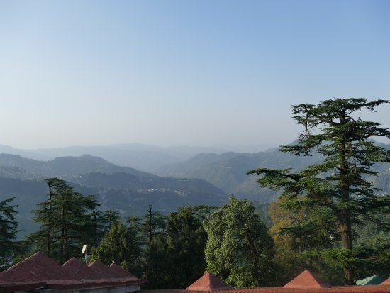 The Oberoi Cecil, Shimla: Valley view from the room balcony