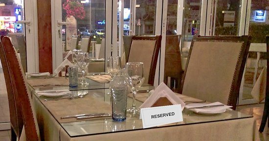 A reserved table at The Farmhouse Tavern