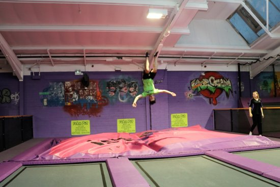 Sandown, UK : islejump trampoline park, isle of wight
