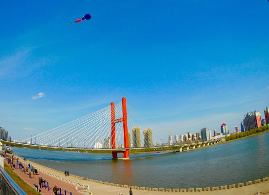 Jilin, Kina: Linjiangmen Bridge