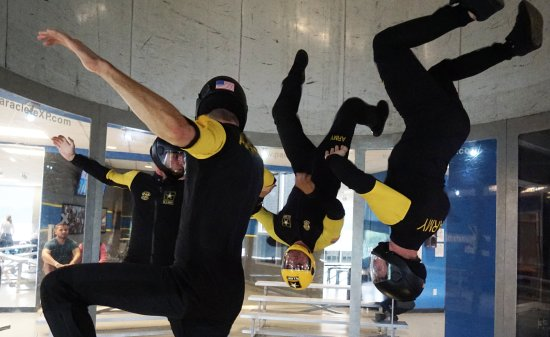 Raeford, NC: Golden Knights training in the tunnel