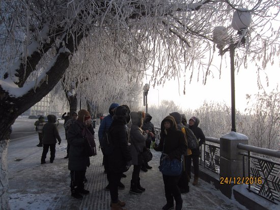 Jilin, China: Almost frozen Songhua River