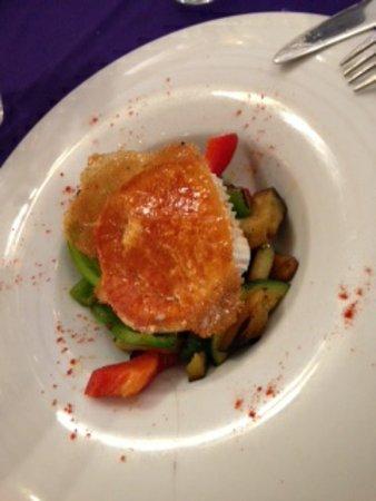 Hotel Ca'n Pere: timbal de verduras con queso de cabra