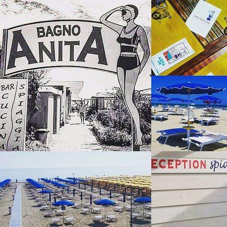 Insegna dell\'storico Bagno Anita fondato nel 1951, la struttura è ...