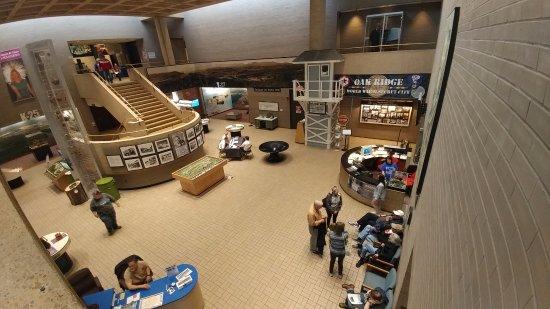 Oak Ridge, TN: From the second floor gallery