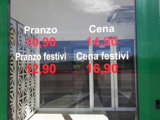 Listino Prezzi International Green Restaurant - Picture of ...
