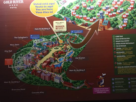 Map of connecting resorts Picture of PortAventura Hotel Gold River