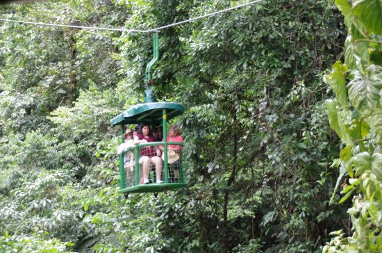 Braulio Carrillo National Park, Costa Rica: The aerial tram, sits 6 with one seat for the guide